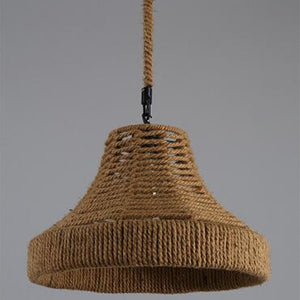 Coupcou.com: MS - 22 E27 / E26 Base Nordic Hemp Rope Twine Retro Antique Dangling Lamp Vintage Pendant Light Fixtures