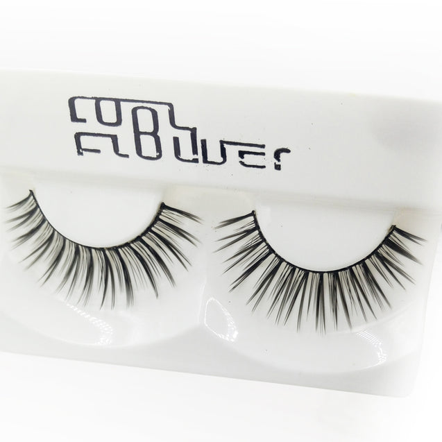 Coupcou.com: 1 Pair Black Natural Long Roll Become Warped False Eyelash