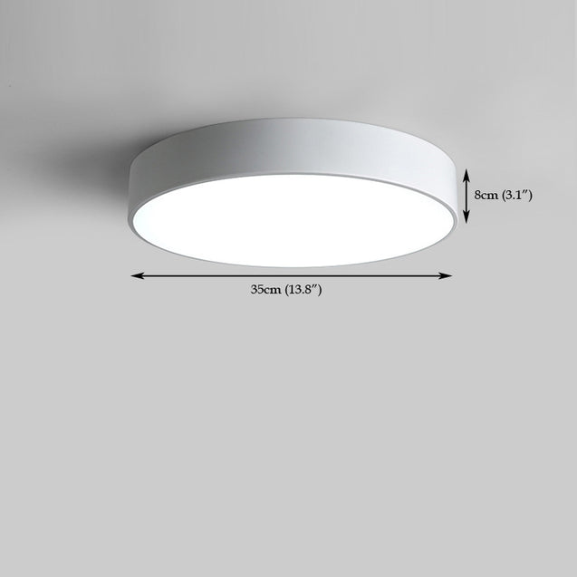 Coupcou.com: Everflower Modern Simple Led Flush Mount Ceiling Light with Max 18W Painted Finish White