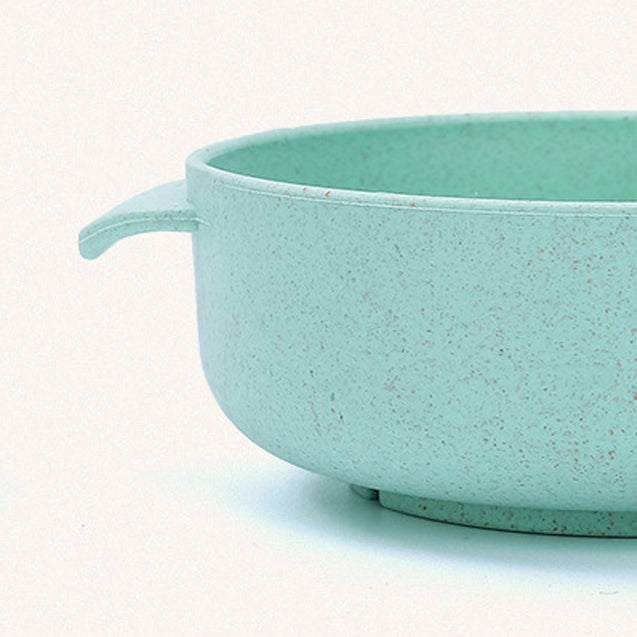 Coupcou.com: Children Bowl and Spoon Environmental Protection Material of Wheat Straw