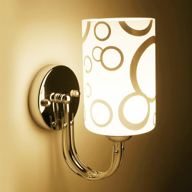 Coupcou.com: Ever-Flower Modern Indoor Wall Lamps Glass Shape E27 Bulb Base for Bedroom Hallway Living Room