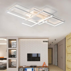 Coupcou.com: Modern White LED Flush Mount Ceiling Light Square Combination Shape for  Living Dining Room Bedroom