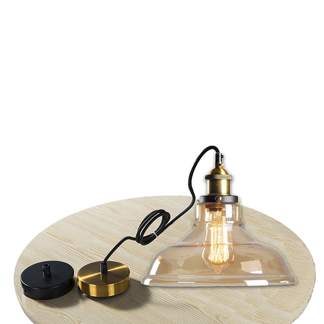 Coupcou.com: Modern Industrial Edison Vintage Style Pendant Light Hanging Glass Mounted Fixture 2PCS
