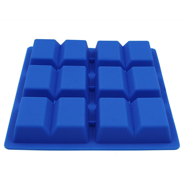 Coupcou.com: Rectangle 6 grid chocolate mold food-grade silicone 6 with ice biscuit cake model DIY baking tools