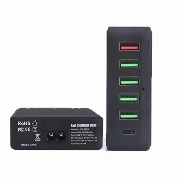 Coupcou.com: XY-8118 Fast Charging USB6 Mouth European Regulations American Regulations British Regulations Australian Regulations Charger Head