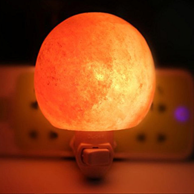 Coupcou.com: YouOKLight 1PCS 7W 120V Natural Himalayan Globe Sphere Salt Lamp Night Lights for Wall Lighting Decoration and Air Purifying