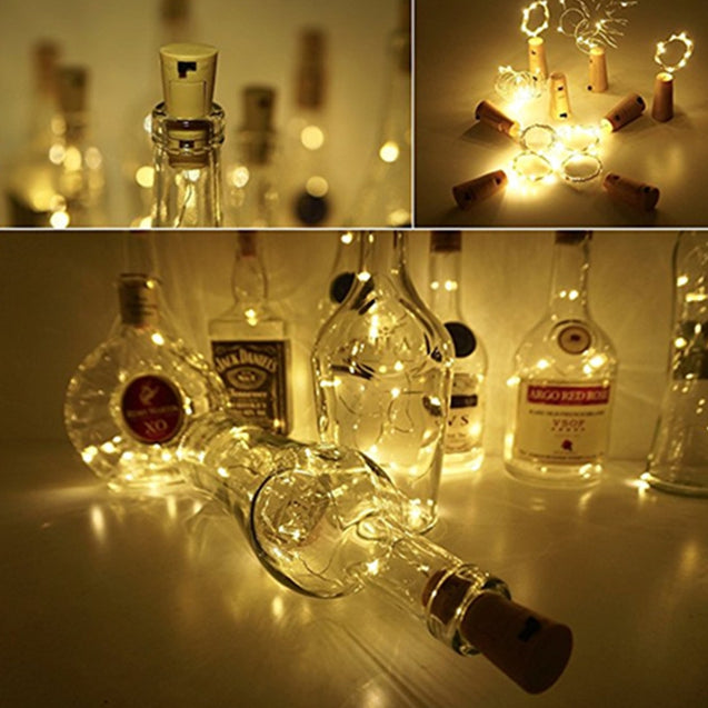 Coupcou.com: Wine Bottle Lights with Cork for DIY Party Decor Christmas Halloween 10pcs