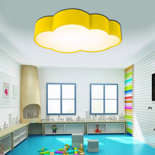 Coupcou.com: BRELONG LED Cloud Ceiling Light Children's Bedroom Cartoon Lights 26W White Light