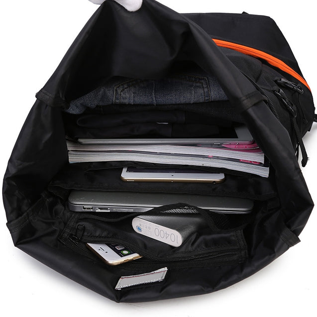 Coupcou.com: Men Sports Wind Large Capacity Solid Color Backpack