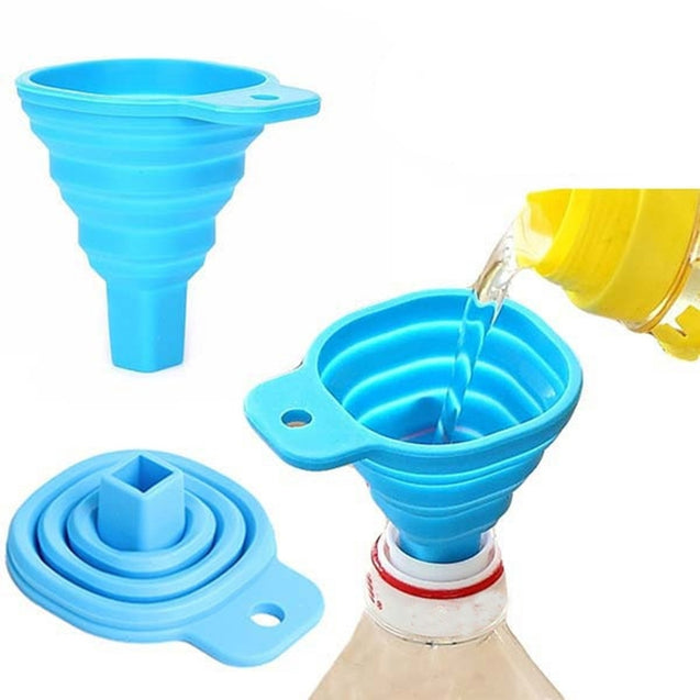 Coupcou.com: Retractable Funnels Home Kitchen Funnel Convenient Storage