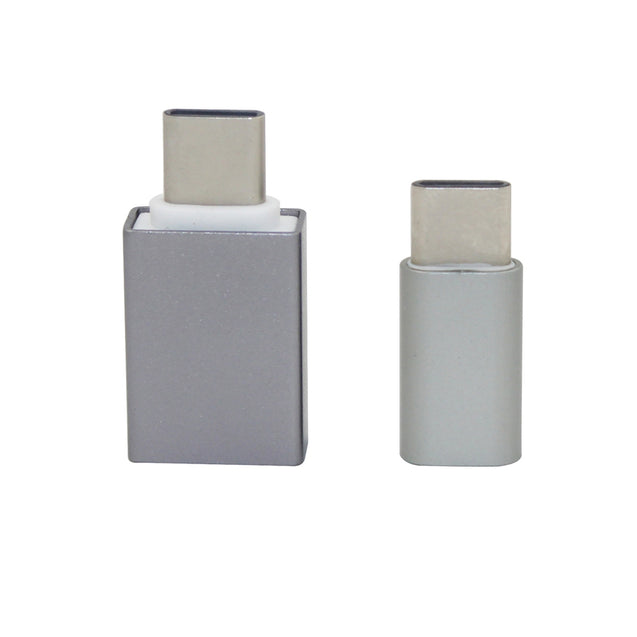 Coupcou.com: Minismile Aluminum Alloy USB 3.1 Type-C to Micro USB with USB 2.0 OTG Adapters
