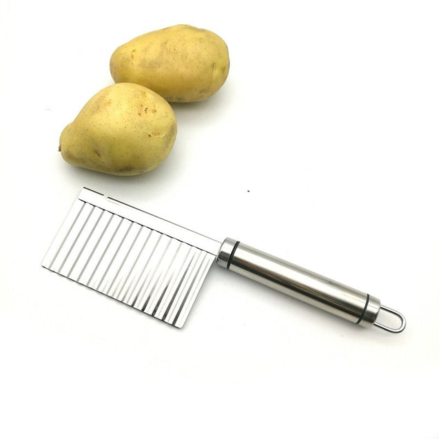Coupcou.com: Stainless Steel French Fries Cutter Peeler Chip DIY Fry Potato Blade