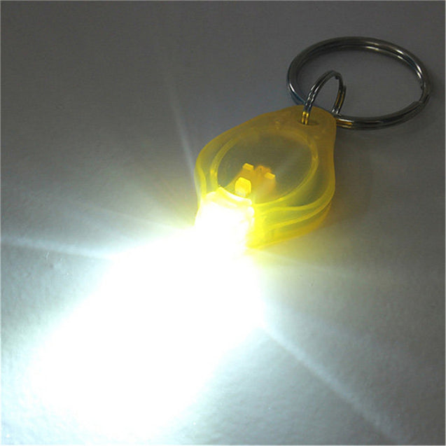 Coupcou.com: Mini LED Keychain Flashlight Torch Keyring White Light - Yellow