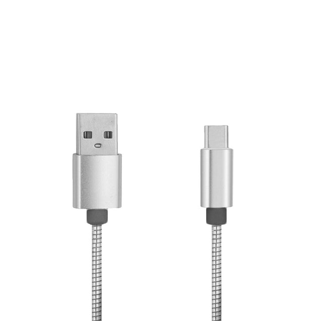 Coupcou.com: Mini Smile Quick Charge Stainless Steel Spring Type-C Usb 3.1 To Usb Charging Cable with High-Speed Data Transmission