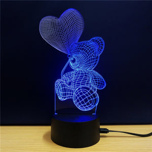 Coupcou.com: M.Sparkling TD106 Creative abstract 3D LED Lamp