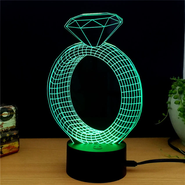 Coupcou.com: M.Sparkling TD146 Creative abstract 3D LED Lamp
