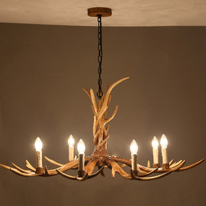 Coupcou.com: Rural Antlers Retro Droplight Archaize Creative for Bedroom Villa