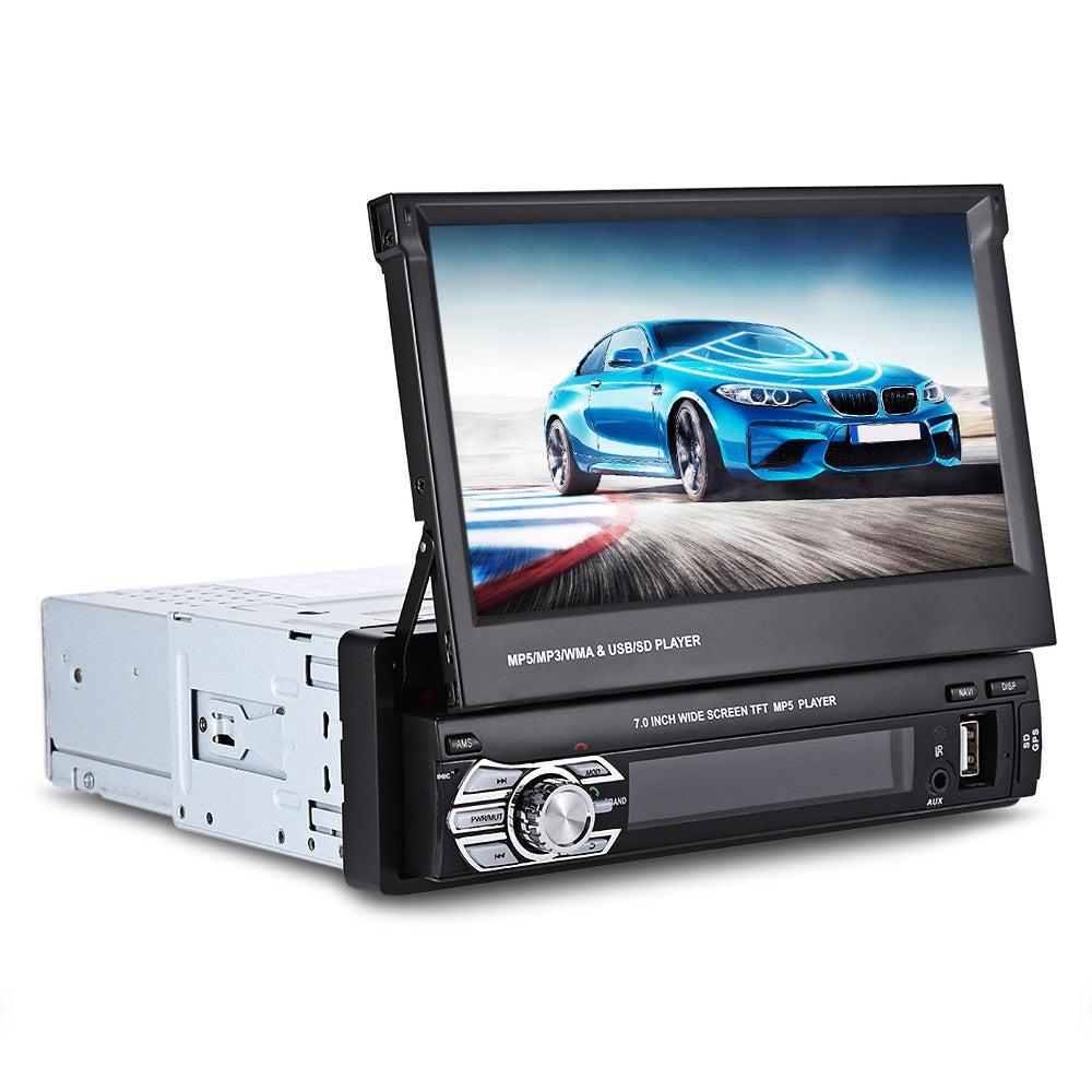 9601G 7inch Single DIN Scalable Screen Multimedia Player with European MapBLACK / EUROPEAN MAP