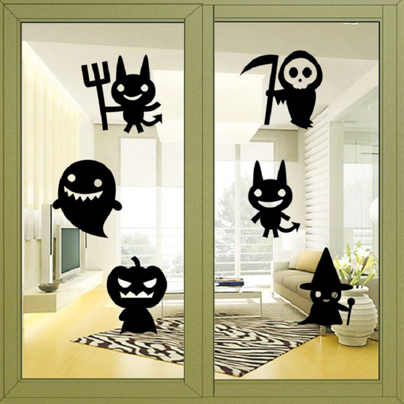 Creative Decor Ghost Wall Sticker for Halloween PartyBLACK