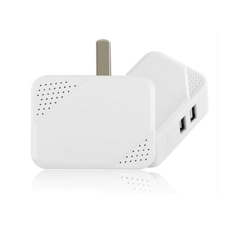 Dual USB Travel Foldable Charger Head US Plug