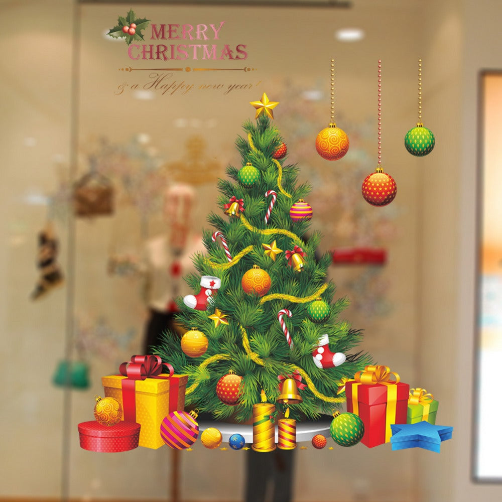 Christmas Tree Vinyl Removable Wall StickerCOLORMIX
