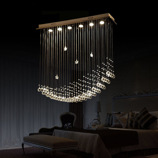 Coupcou.com: X237-30WGU10 Warm White Light Crystal Chandeliers 100x25x100CM
