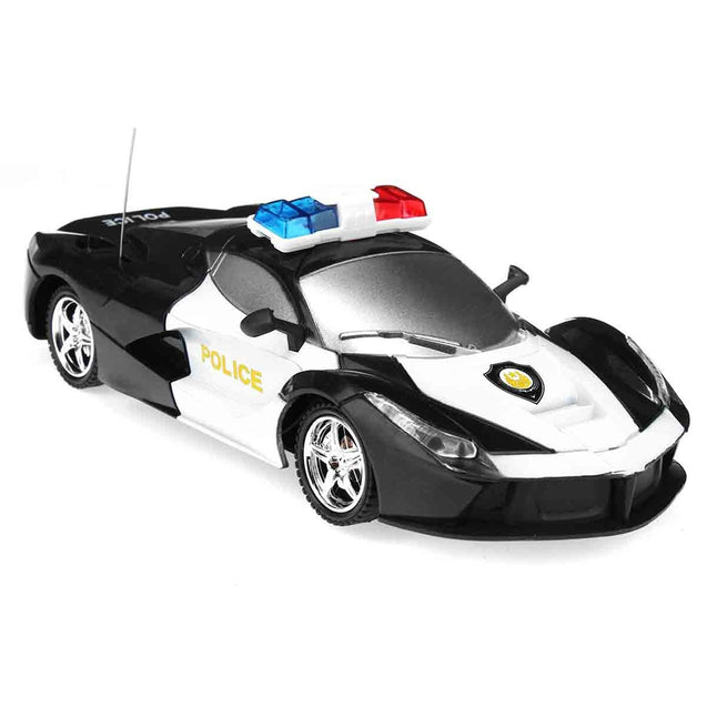 Coupcou.com: 2 Channel Wireless Remote Control RC Police Car Truck Kid Toy Birthday Gift