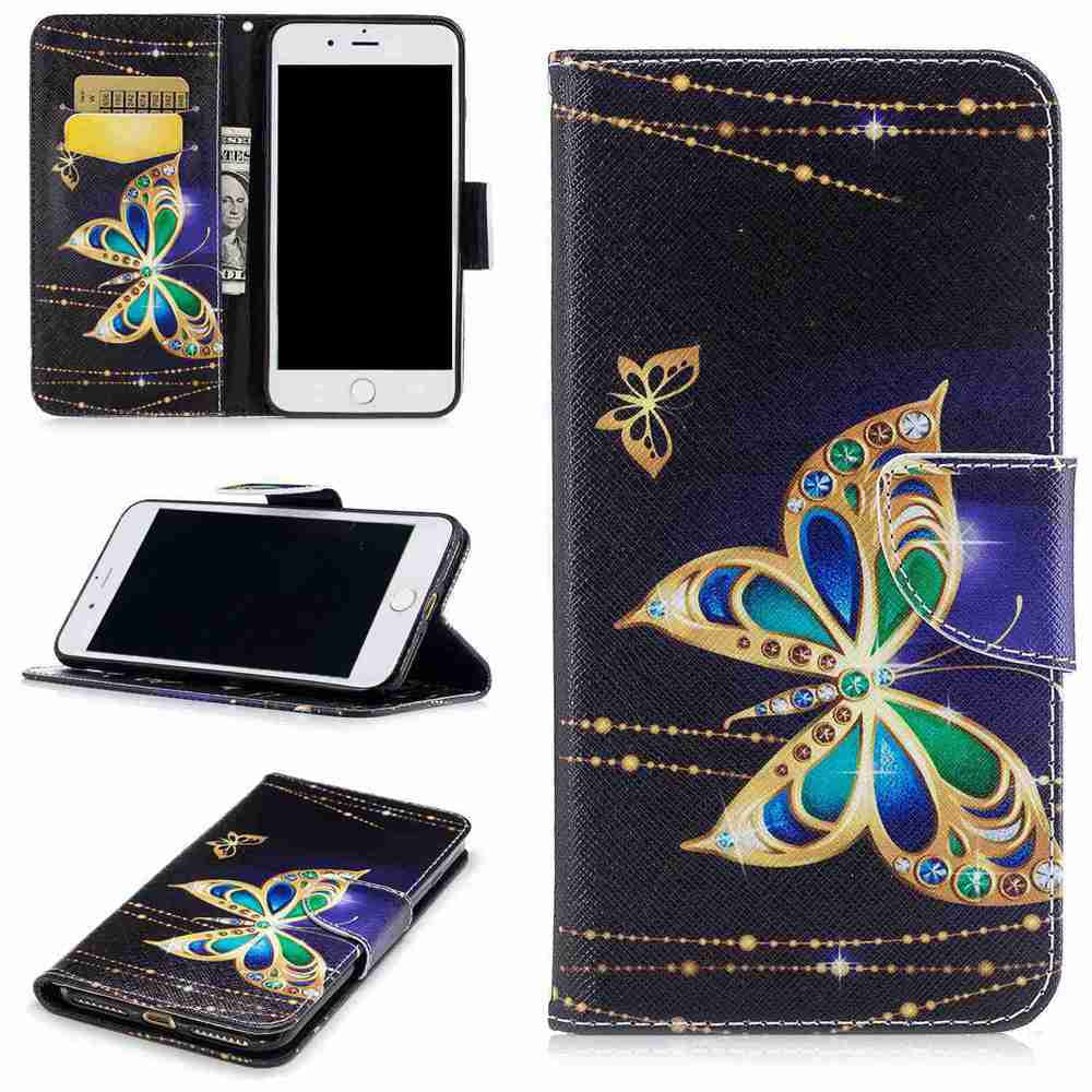 Big Butterfly Pu Phone Case for Iphone 7COLORMIX