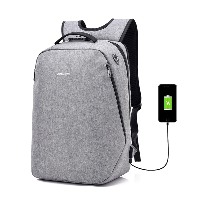 Anti-Theft Backpack Multi-functional Business Travel BackpackGRAY