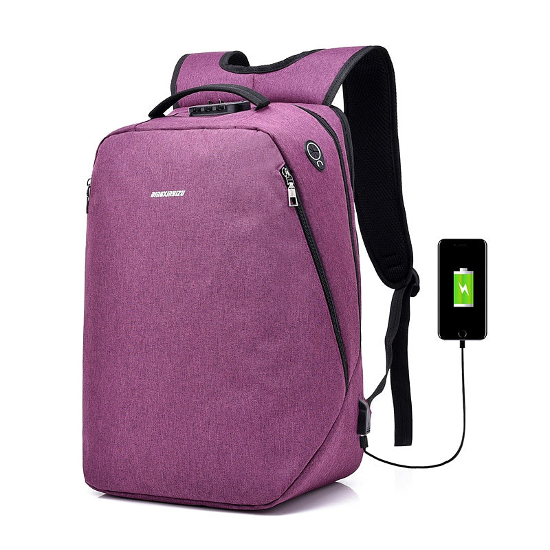 Anti-Theft Backpack Multi-functional Business Travel BackpackPURPLE