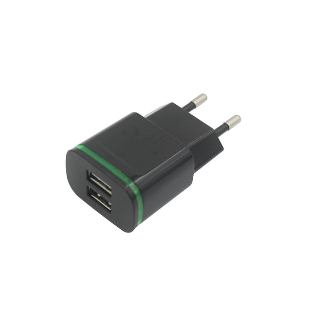 Coupcou.com: 2-PORT 5V Fast-Charging Eu Plug Power Charger + Usb 3.1 Type C Cable
