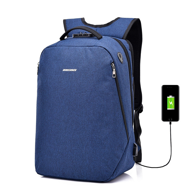 Anti-Theft Backpack Multi-functional Business Travel BackpackBLUE