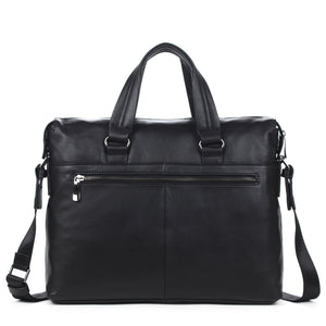 Coupcou.com: DANJUE Men Business Briefcase Genuine Leather Big Capacity Men Handbag Fashion Men Bags Double Bag Messenger Bag Male