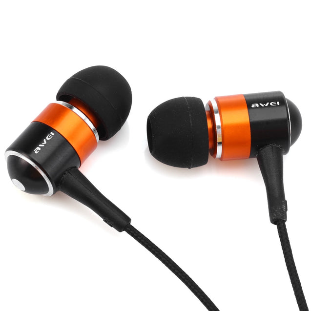Coupcou.com: Awei ESQ3 Noise Isolation In-ear Earphone with 1.2m Cable for Smartphone Tablet PC