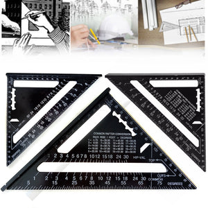 Coupcou.com: Metric Aluminum Alloy Triangular Ruler Metricruler Speed Square Protractor Double Scale Miter Framing Measurement Ruler