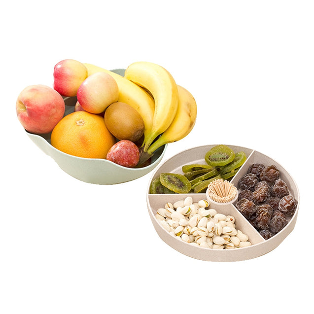 Coupcou.com: Creative Wheat Fiber Fruit Candy Snacks Dried Fruit Tray