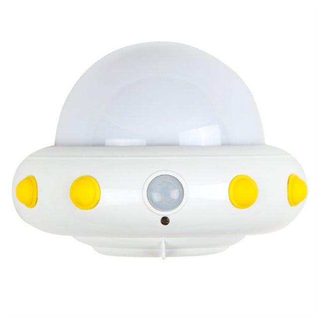 Coupcou.com: UFO Plug in Electric Remote LED Small Night Light White