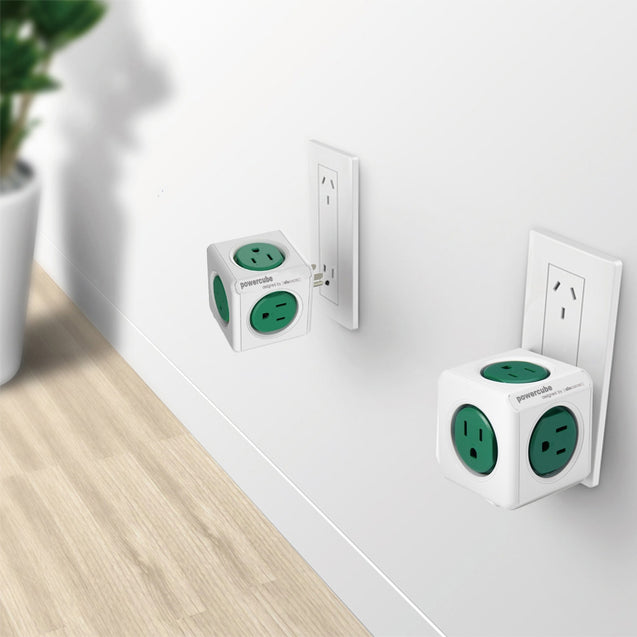 Coupcou.com: Allocacoc 125V 15A PowerCube Power Socket US Plug 5 Outlets Adapter - 1 Piece