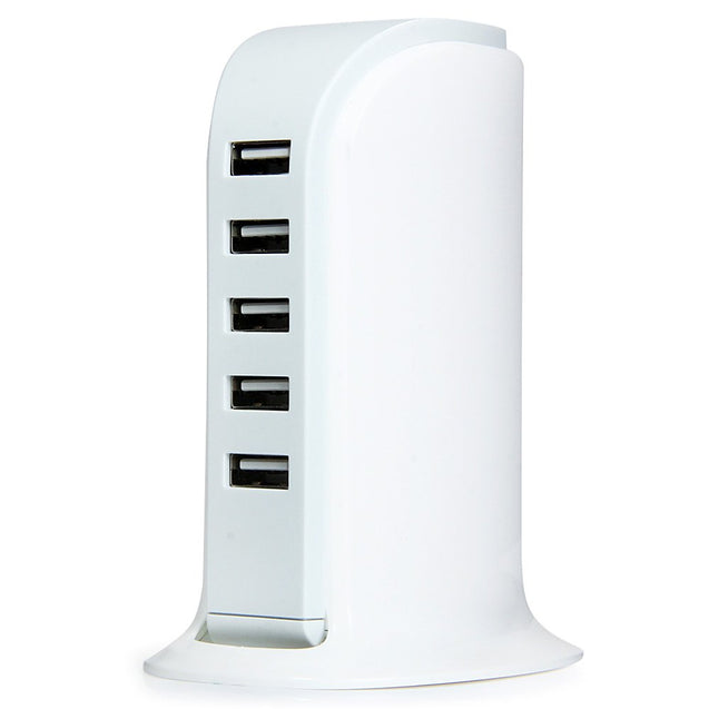 Coupcou.com: 30W 5 USB Ports Charger Over-voltage Protection Power Adapter for iPhone iPad iPod HTC ( 100 - 240V UK Plug )