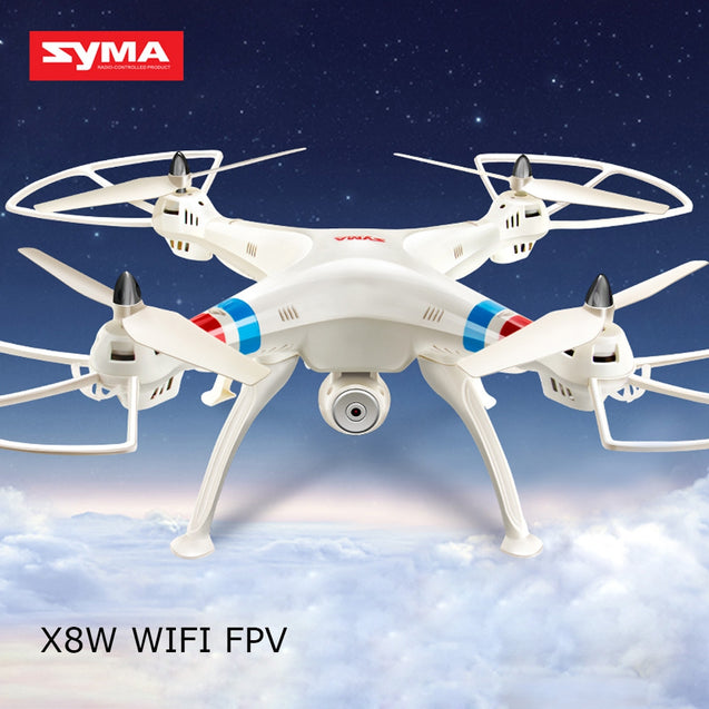 Coupcou.com: SYMA X8W WiFi FPV Headless Mode 2.4GHz 6 Axis Gyro RC Quadcopter with 0.3MP Camera 3D Roll Stumbling Function
