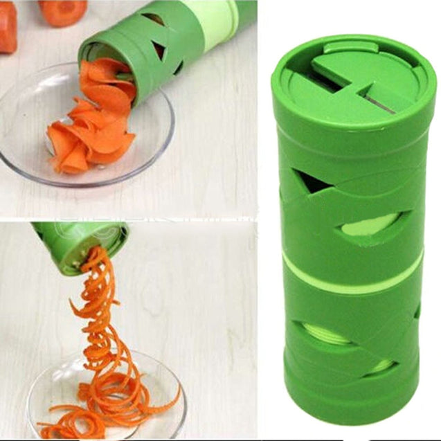 Coupcou.com: Manual Multifunctional Vegetable Fruit Cucumber Carrot Turning Cutter Spiral Slicer Spiralizer Processing Device