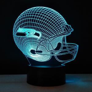 Coupcou.com: 3D Illusion LED Table Lamp Night Lights Rugby Cap Desk Lampen Seahawks Helmet led Light Touch 7 Colors Changing