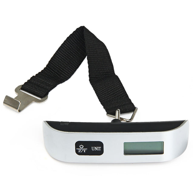 Coupcou.com: Hostweigh LCD Mini Luggage Electronic Scale Thermometer 50kg Capacity Digital Weighing Device