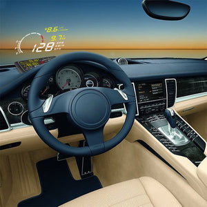 Coupcou.com: X3 Universal 5.5 inch Car Bluetooth HUD Head Up Display with Engine Speed Alarm