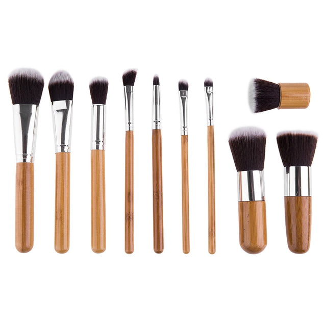 Coupcou.com: Beauty 11 Pcs Wool Brush Set Makeup Cosmetics with Pure Color Pouch