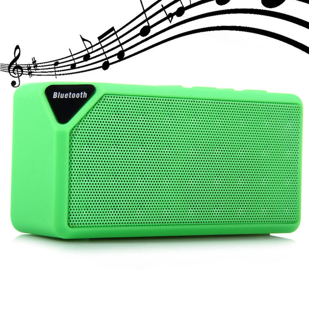 Coupcou.com: X3 Wireless Mini Bluetooth V2.1 Speaker Portable Speaker for Mobile-phone and TF Card