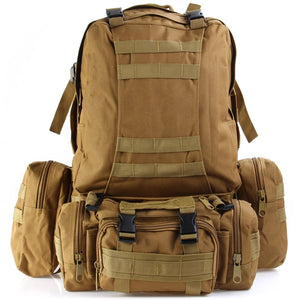 Coupcou.com: Outdoor Tactical Backpack Combination Style Bag with Molle System