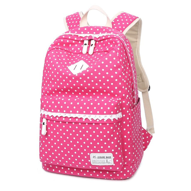 Coupcou.com: Aolida 8825 Spots Design Large Capacity Backpack Travel Laptop Bag