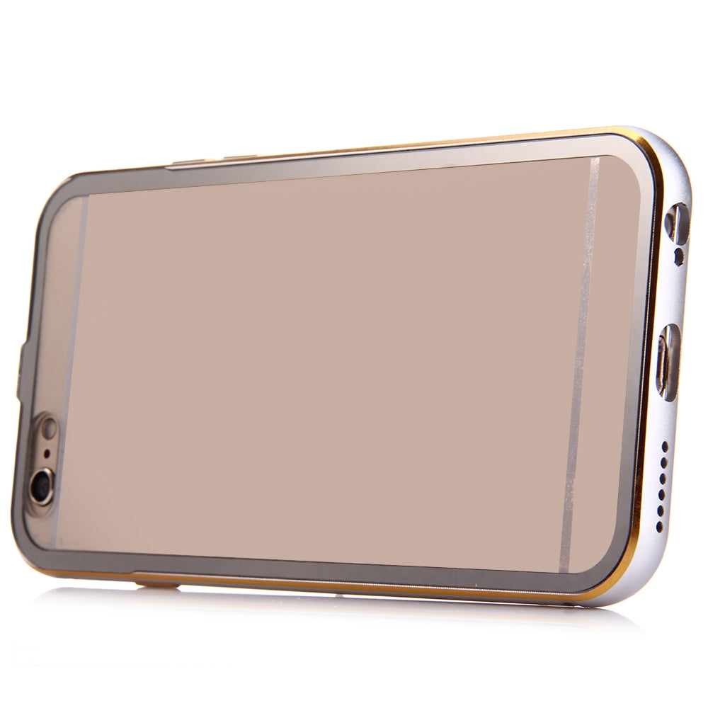2 in 1 Ultrathin Detachable Metal Bumper Transparent Back Case Cover for iPhone 6 Plus 6s PlusSILVER