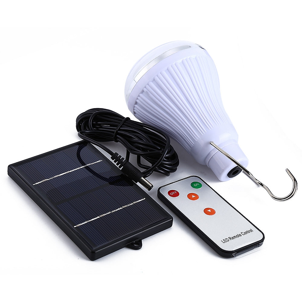 20 LED Dimmable Solar Lamp with Remote ControllerWHITE LIGHT